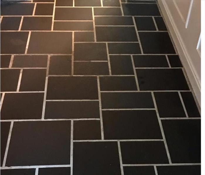 black and white tile with clean and finish